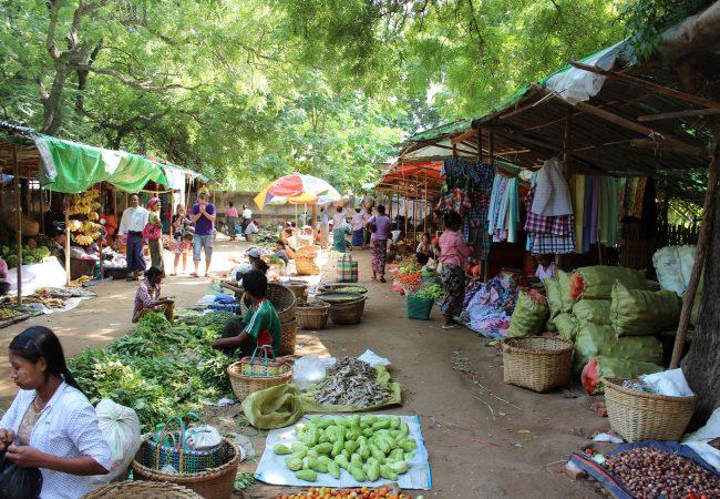 BIRMANIA, Bagan, mercato