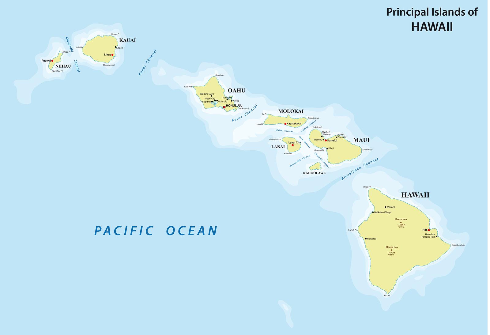 Cartina Mondo Hawaii.Viaggi Alle Isole Hawaii